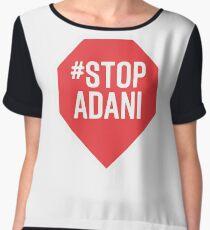 Stop Adani (#stopadani) Support Shirt Chiffon Top