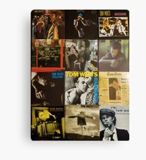 Tom Waits Discography collage Canvas Print