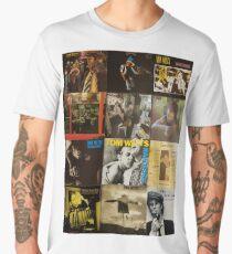 Tom Waits Discography collage Men's Premium T-Shirt