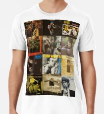 Tom Waits Discography collage Men's Premium T-Shirt