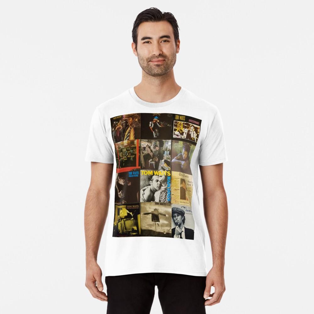 Tom Waits Discographie-Collage Premium T-Shirt