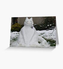 A SNOW CAT FOR YOU  Greeting Card