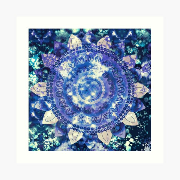 Boho Grape Fizz Mandala Art Print