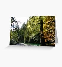 STAIRCASE IN AUTUMN  Greeting Card