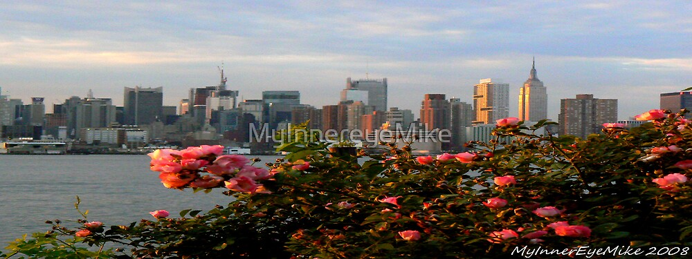 #555 New York City with Roses   (Resized) by MyInnereyeMike