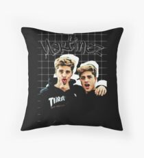 They are not simply two handsome guys who young girls go crazy for; they are taking their work seriously. Throw Pillow