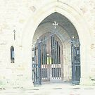 Porch of St mary's Parish Church Horsham Sussex. by Terry Collett