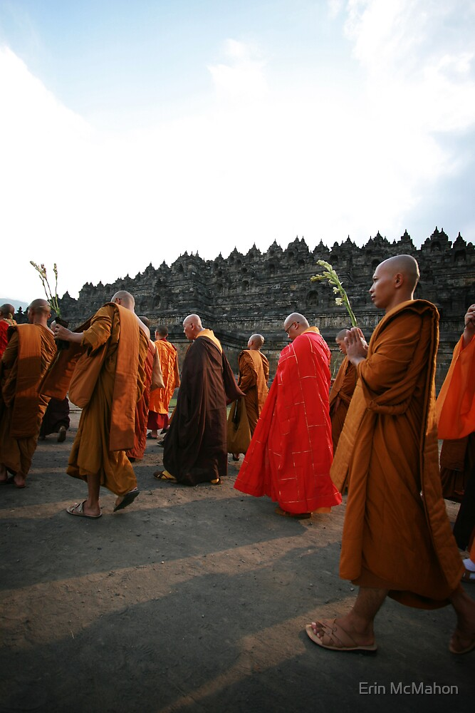 Waisak Day - Borobudur - Indonesia by Erin McMahon