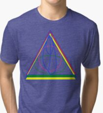 The Cloak, The Ring, and the Wand. Tri-blend T-Shirt