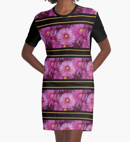 Pink Pigface Flowers Graphic T-Shirt Dress