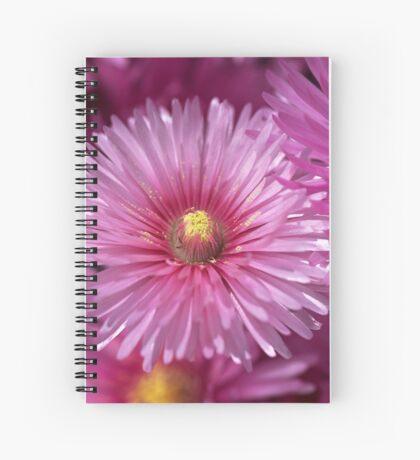 Pink Pigface Flowers Spiral Notebook