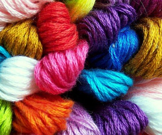 Colors of yarn by Virginia N. Fred