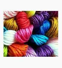 Colors of yarn Photographic Print