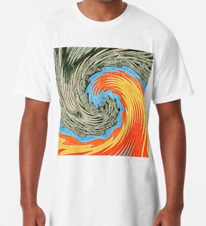 Abstract Wave Long T-Shirt