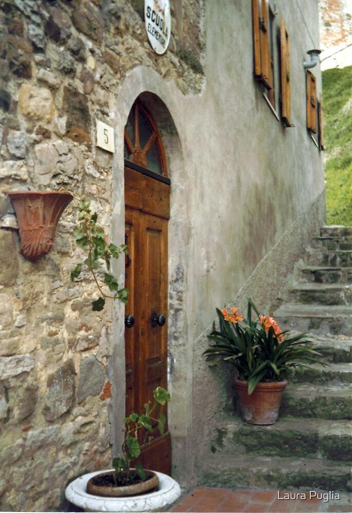 Entrance to Elementary School in Gressa by Laura Puglia