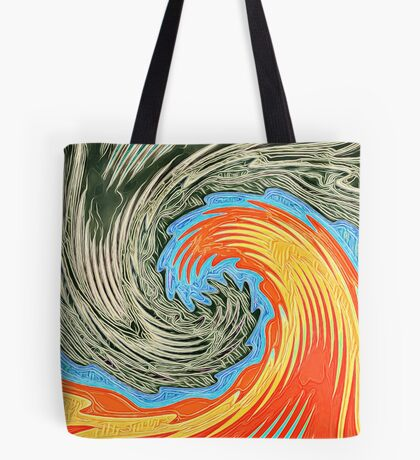 Abstract Wave Tote Bag