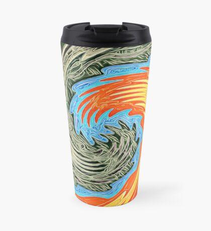 Abstract Wave Travel Mug