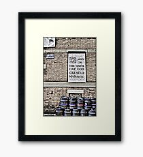 On the Sixth Day....... Framed Print