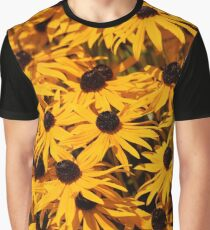 A Bed of Black-Eyed Susans / Rudbeckias in the Summer Sun Graphic T-Shirt