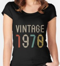 1970 47 years old birthday  Women's Fitted Scoop T-Shirt