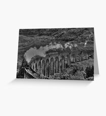 The Jacobite Steam Train. Greeting Card
