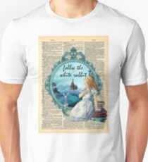 Follow The White Rabbit - Vintage Dictionary page T-Shirt