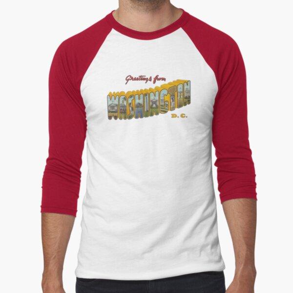 Greetings from Washington DC 1 Baseball ¾ Sleeve T-Shirt