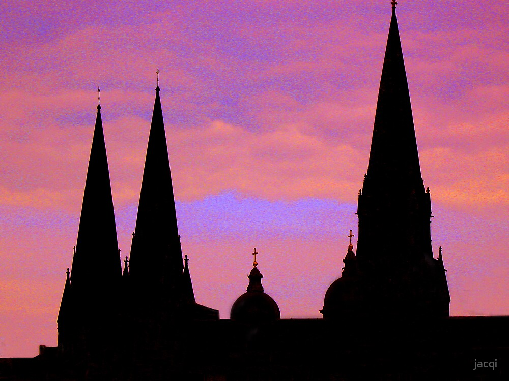 Edinburgh St Mary's Cathedral Spires by jacqi