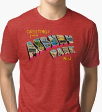 Greetings from Asbury Park, New Jersey 0a Tri-blend T-Shirt