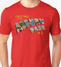 Greetings from Asbury Park, New Jersey 0a Slim Fit T-Shirt