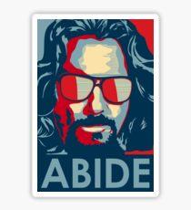 the dude abide Sticker