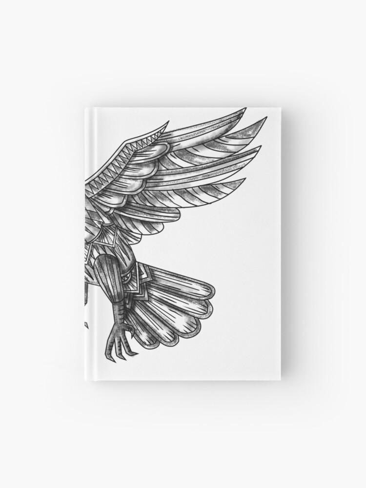 6ce5e7de6 Raven Flying Up Geometric Mandala Tattoo