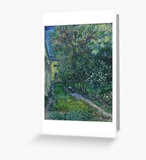The garden at the asylum at Saint-Rémy 1889 Vincent van Gogh Greeting Card