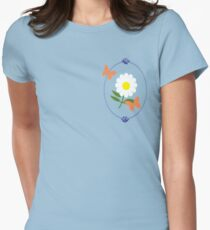 Daisy Butterfly Frame Women's Fitted T-Shirt