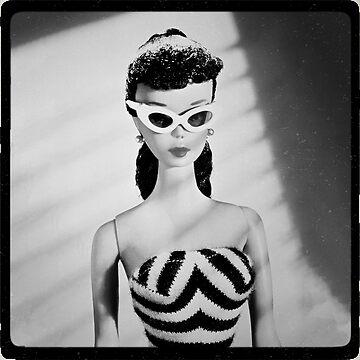 Retro Doll Black and White Frame by cherrypiez