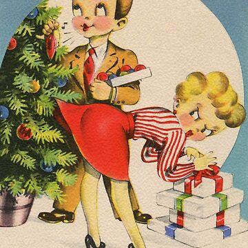 Vintage Retro Naughty Christmas by cherrypiez