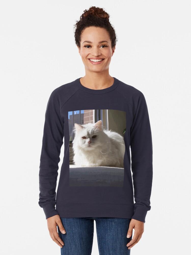Alternate view of Cat In The House Lightweight Sweatshirt