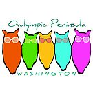 Owlympic Peninsula Washington Owls by EvePenman