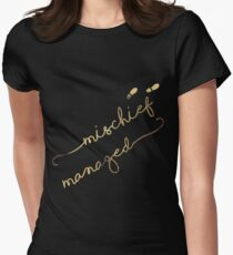 Mischief Managed (black) Women's Fitted T-Shirt
