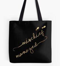 Mischief Managed (black) Tote Bag