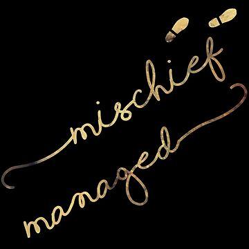 Mischief Managed (black) by rainilyahead