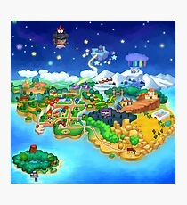 Paper Mario Map Photographic Print
