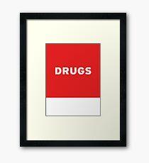 Drugs   Lust Brick Framed Print