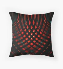 Behind Bars - Red Floor Pillow