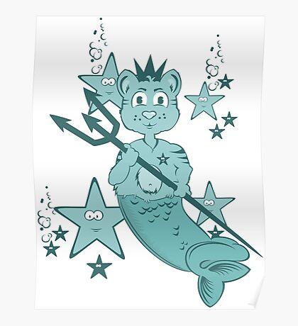 Neptun Cat - Mercat among Stars VRS2 Poster