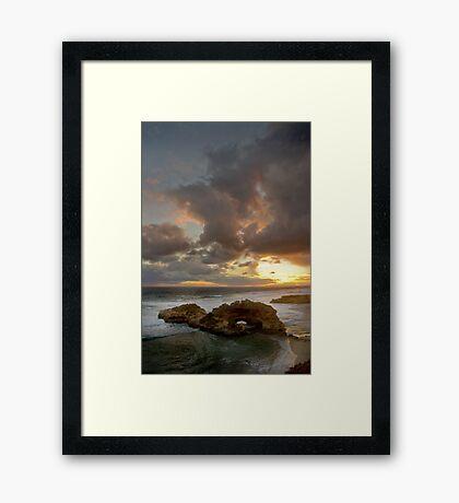 London Bridge Sunset Framed Print