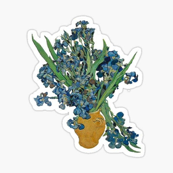 Van Gogh Iris Grunge Pegatina