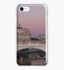 Engelsburg mit Brücke in Rom  bei Sonnenuntergang iPhone Case/Skin