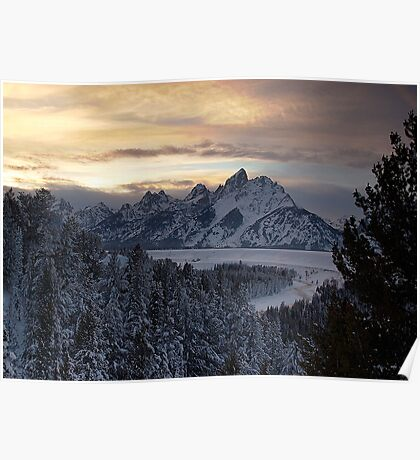 Snake River Overlook - January Poster