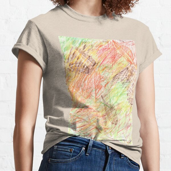 2413 - Golden Autumn Leaves Falling Classic T-Shirt